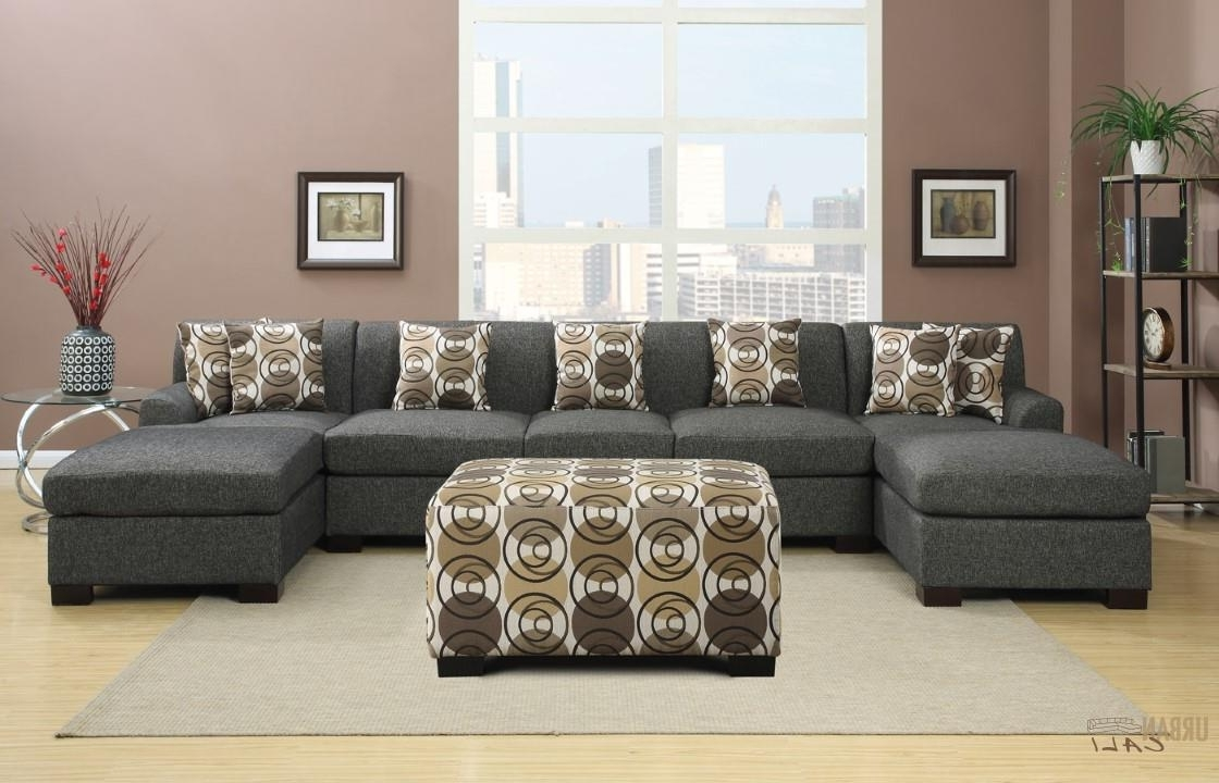 Kamloops Sectional Sofas Intended For Fashionable Hayward Ash Black U Shaped Sectional Sofa Set (View 7 of 15)