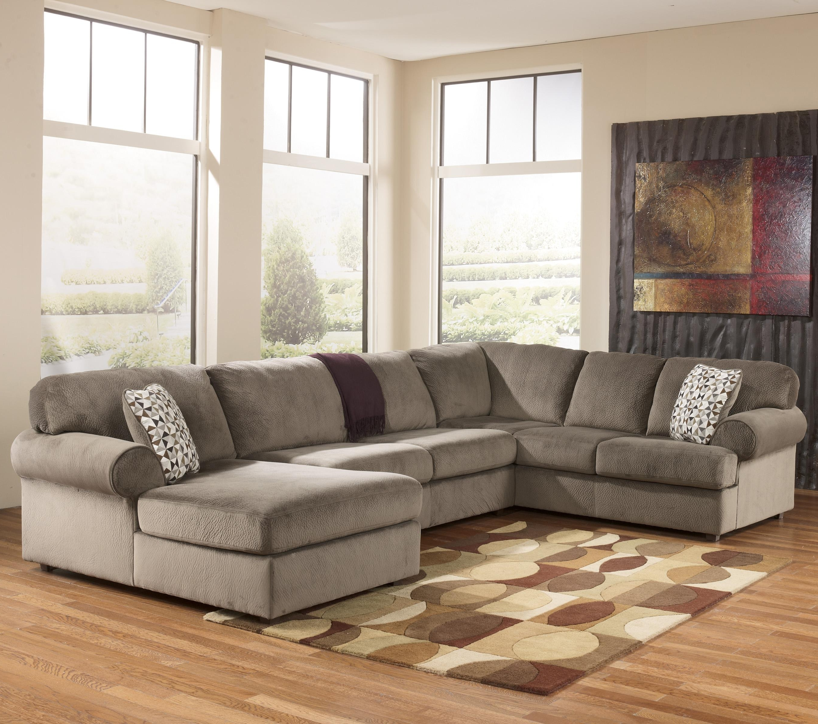 Kansas City Mo Sectional Sofas In Popular Signature Designashley Jessa Place – Dune Casual Sectional (View 4 of 15)