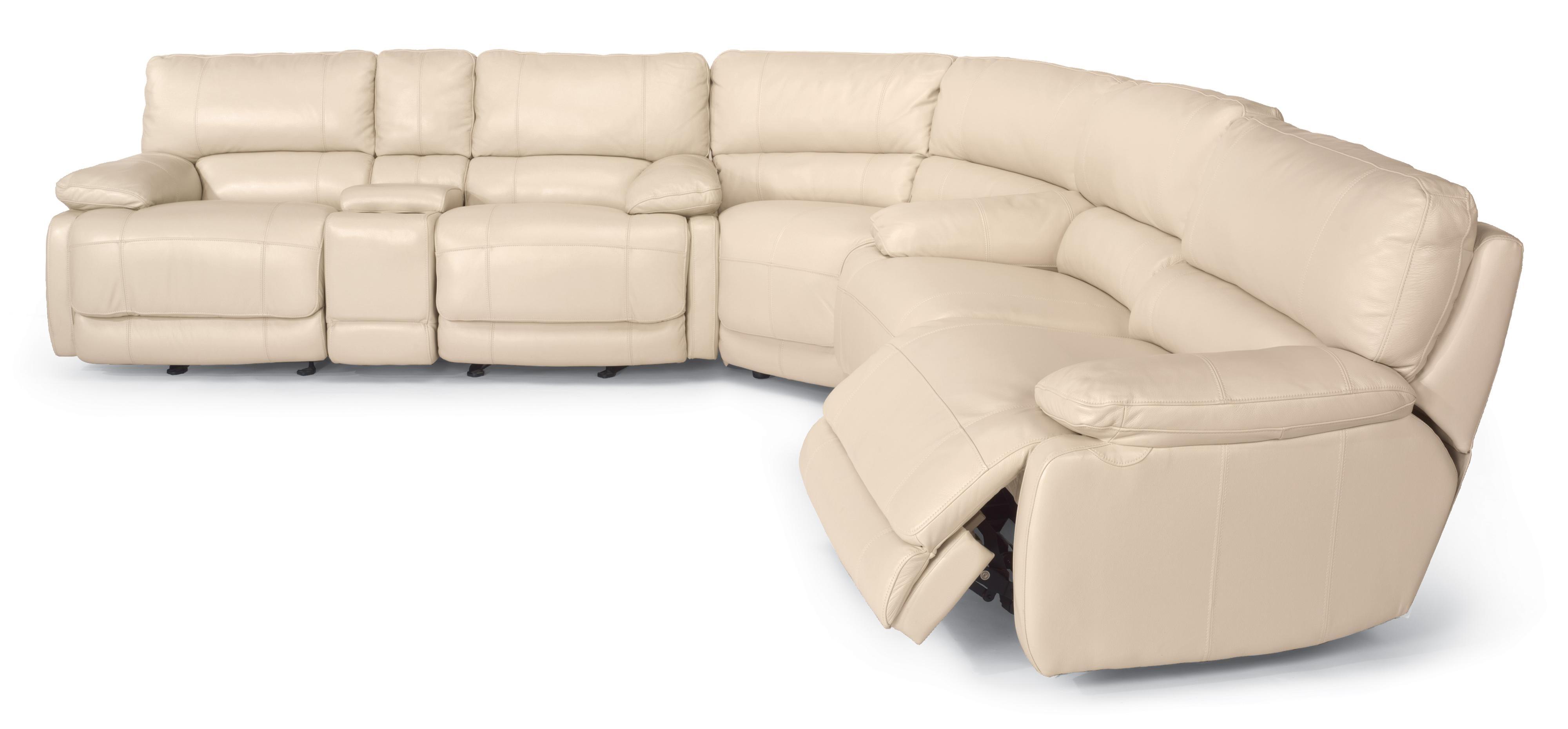 Kansas City Mo Sectional Sofas Within Favorite Flexsteel Latitudes – Hermosa Reclining Sectional Sofa – Ahfa (View 8 of 15)