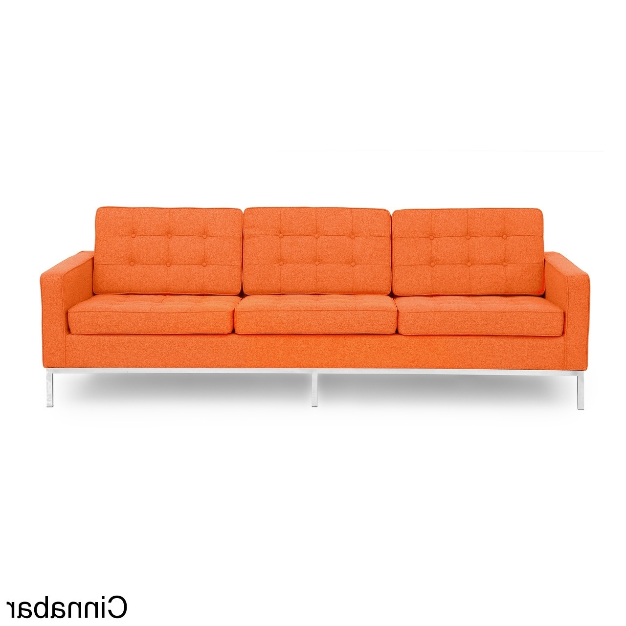 Kardiel Florence Knoll Style Sofa 3 Seat, Premium Fabric Within Well Known Florence Knoll Style Sofas (Gallery 14 of 15)