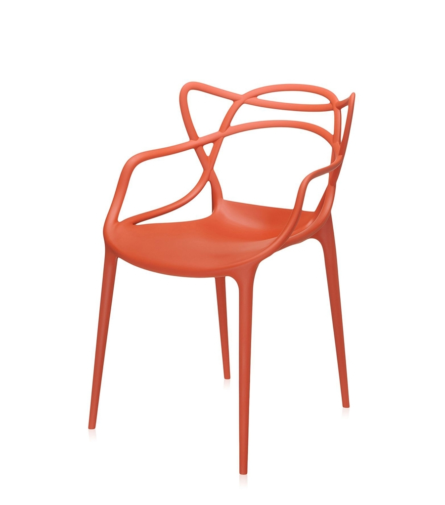 Kartell Set De 2 Chaises Masters (Orange Rouille – Polypropylène Regarding 2018 Orange Chaises (View 7 of 15)
