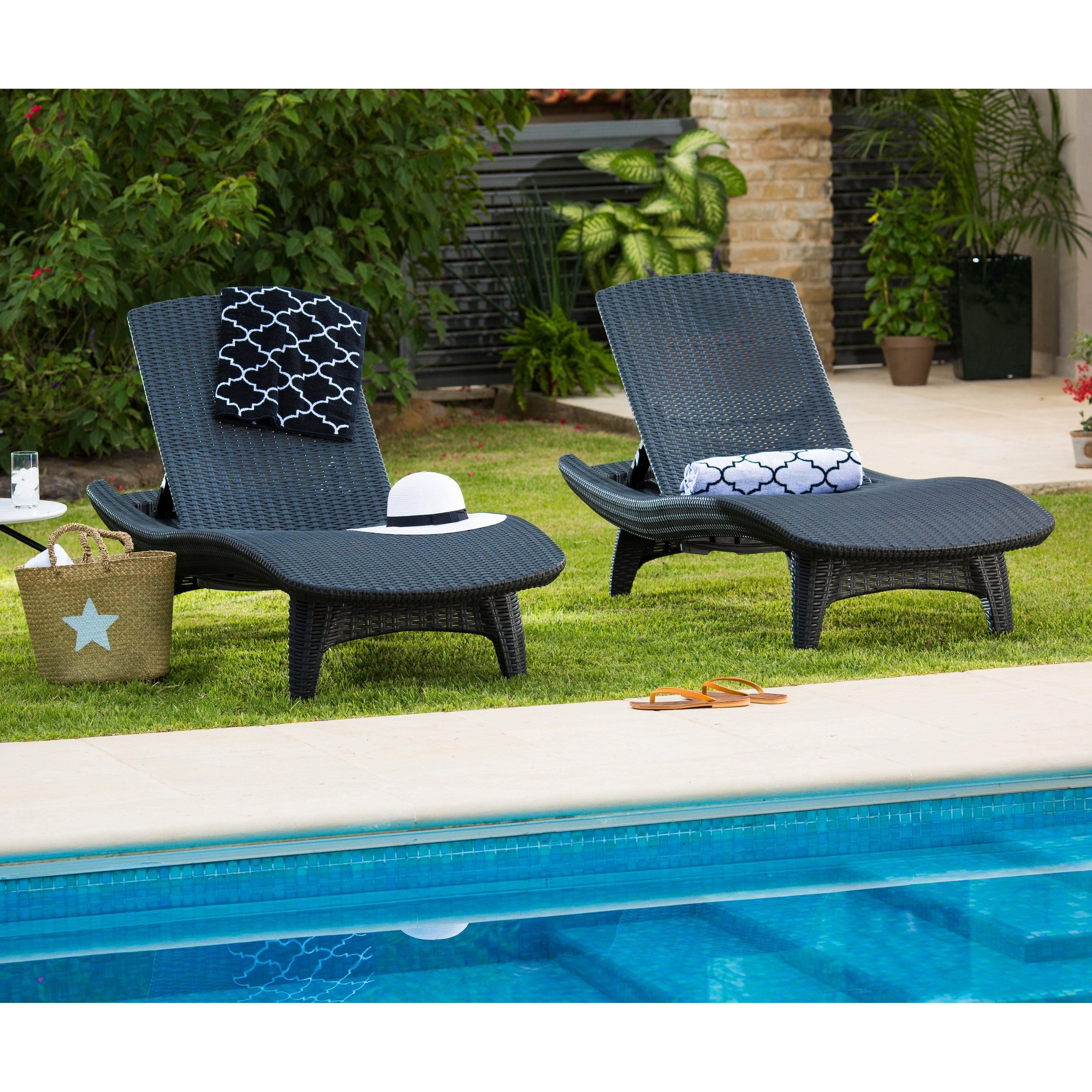 Keter Chaise Lounges with regard to Preferred Keter Outdoor Chaise Lounge - Set Of 2