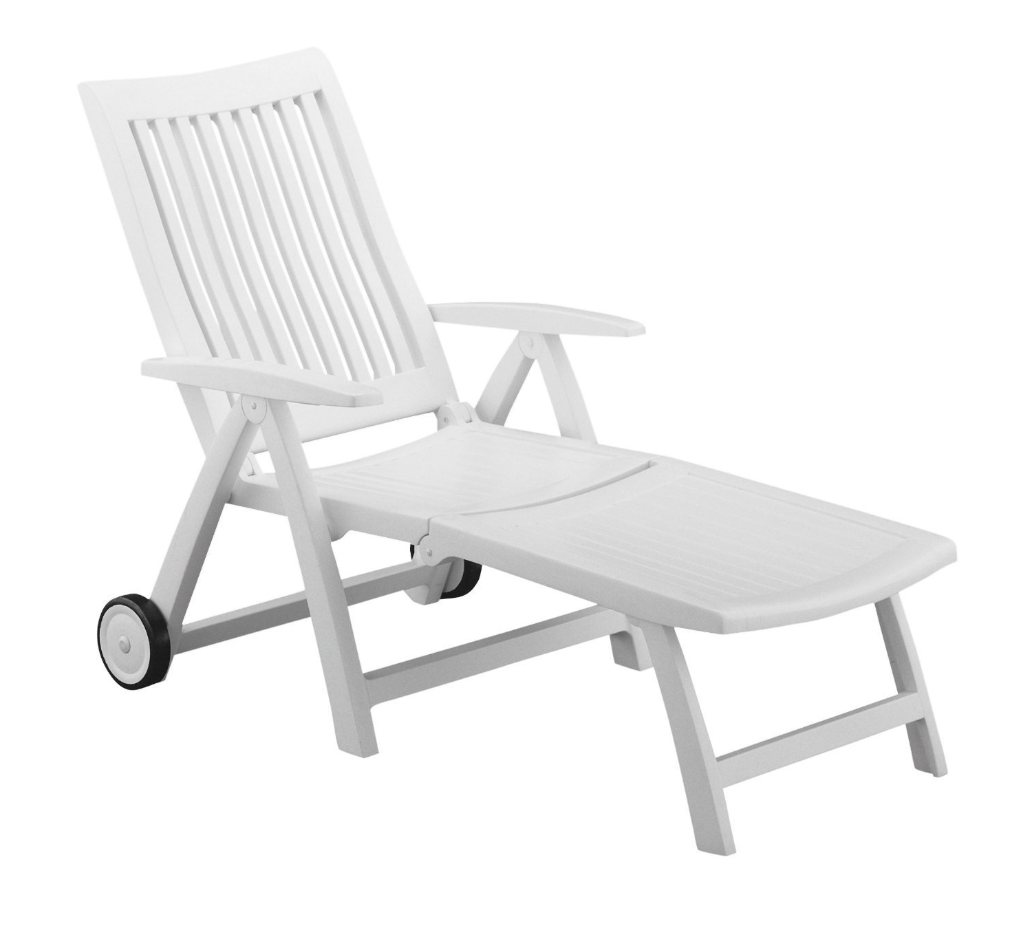 Kettler Chaise Lounge Chairs within Current Amazon : Roma Folding Lounger In White Resin : Patio Lounge