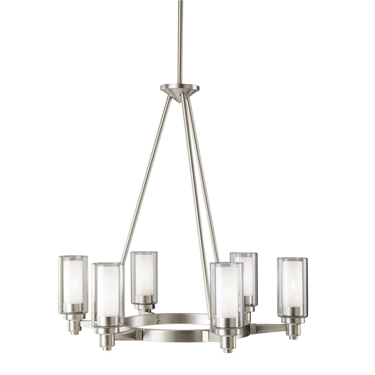 Kichler 2344Ni Six Light Chandelier – – Amazon Within Well Liked Clear Glass Chandeliers (View 11 of 15)