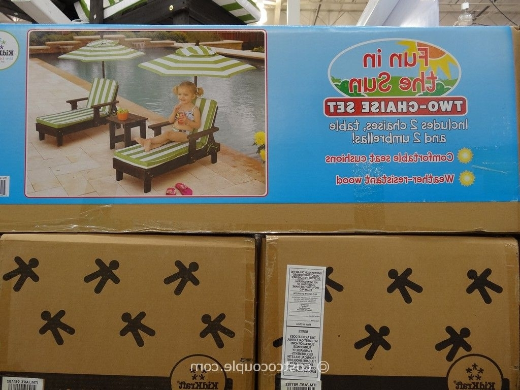 Kidkraft 2 Piece Chaise Lounge Set Pertaining To 2017 Kidkraft Chaise Lounges (View 13 of 15)