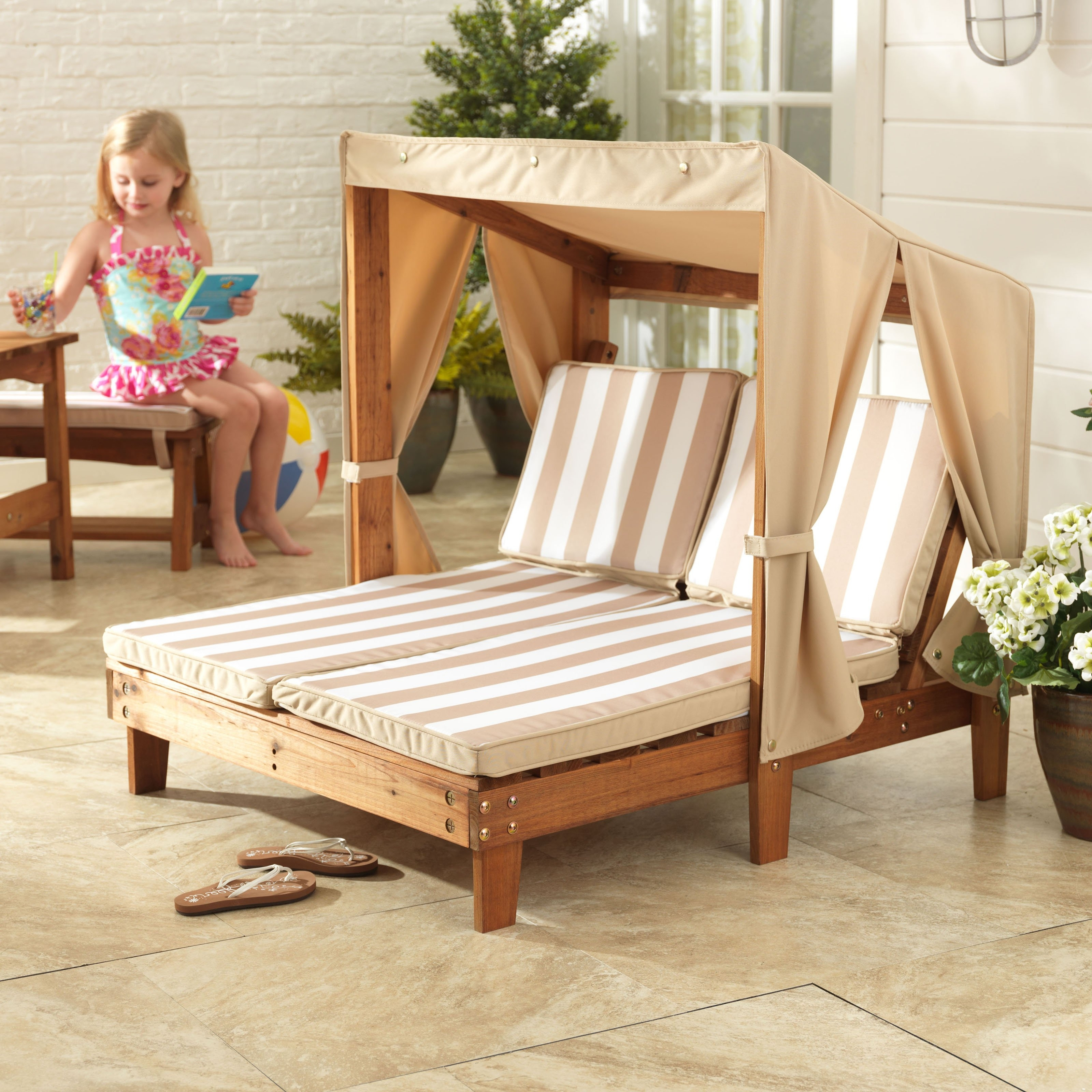 Kidkraft Double Chaise Lounges regarding Most Current Kidkraft Double Chaise Chair - 502 - Walmart