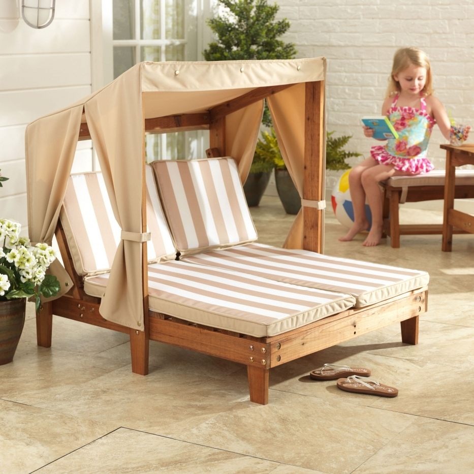 Kidkraft Double Chaise Lounges Throughout Fashionable Kidkraft Double Chaise Chair 502 Walmart Outdoor Double Chaise (View 7 of 15)
