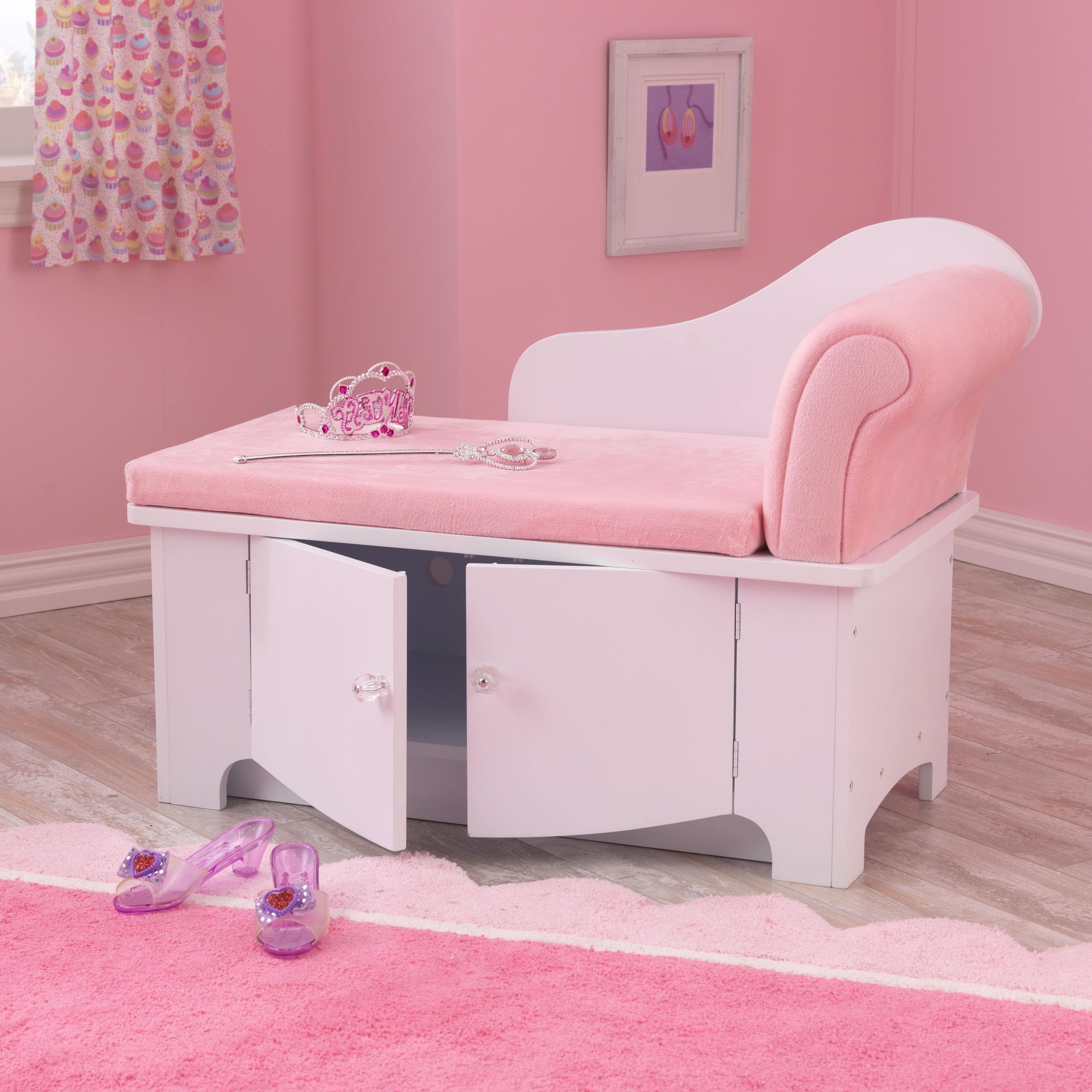 Kids Chaise Lounges Inside Well Known Kids Chaise Lounge Kidkraft Princess Pink Cushion Comfort Toy (View 5 of 15)