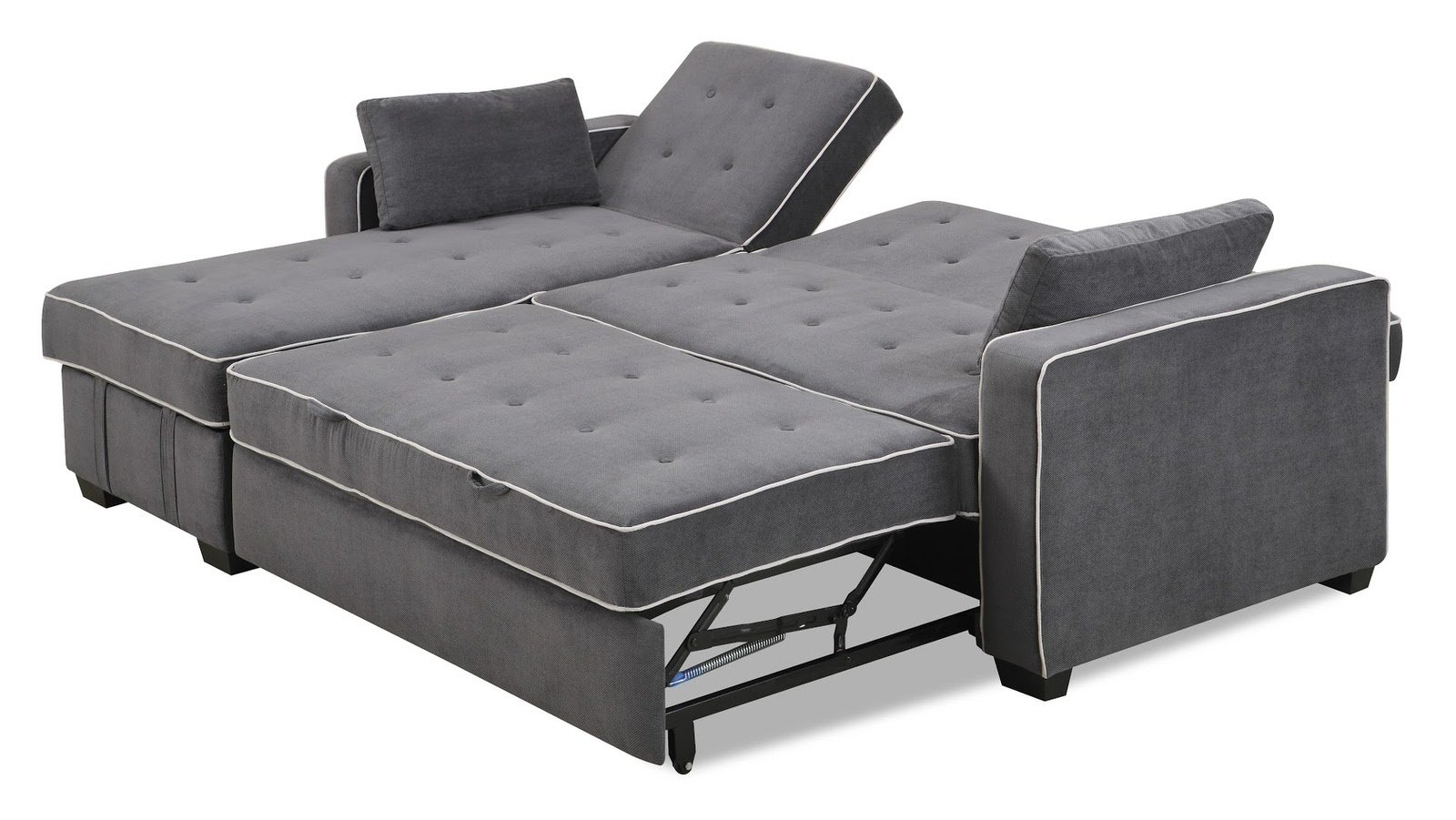King Size Sleeper Sofas with regard to Well-liked Augustine Sectional Moon Greyserta / Lifestyle