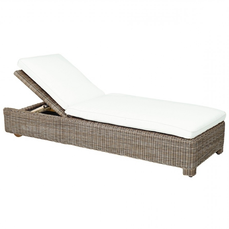 Kingsley Bate Sag Harbor Wicker Adjustable Chaise Lounge within Most Recently Released Wicker Chaise Lounges