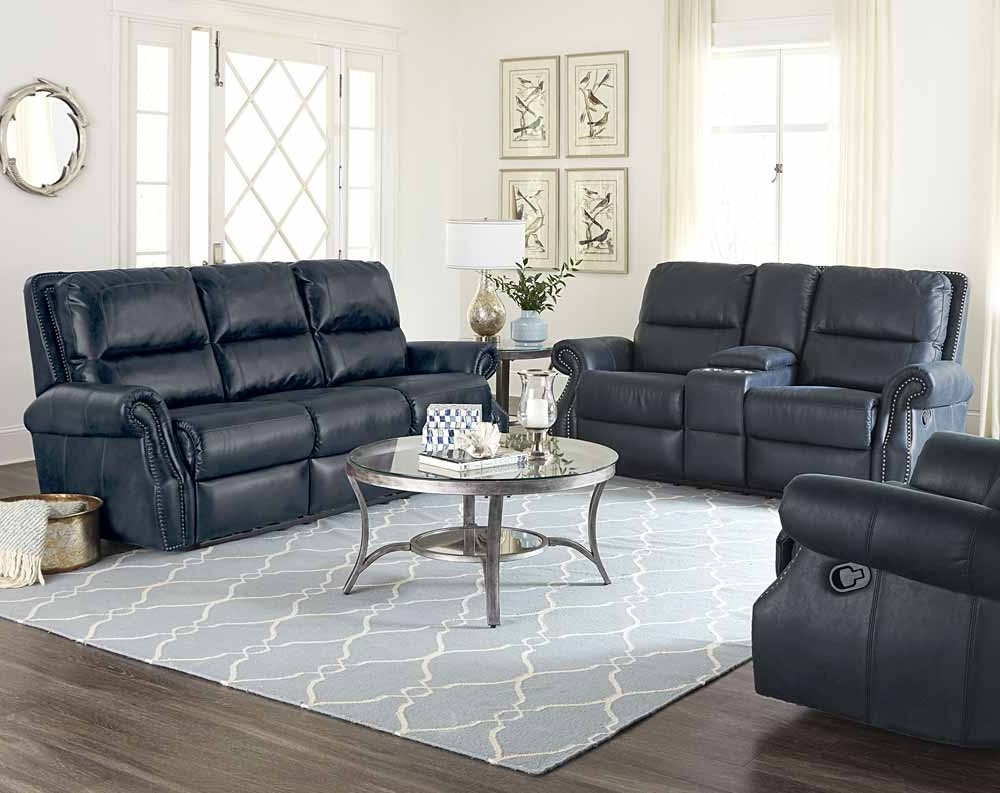 Kingston Navy Reclining Sofa & Loveseat