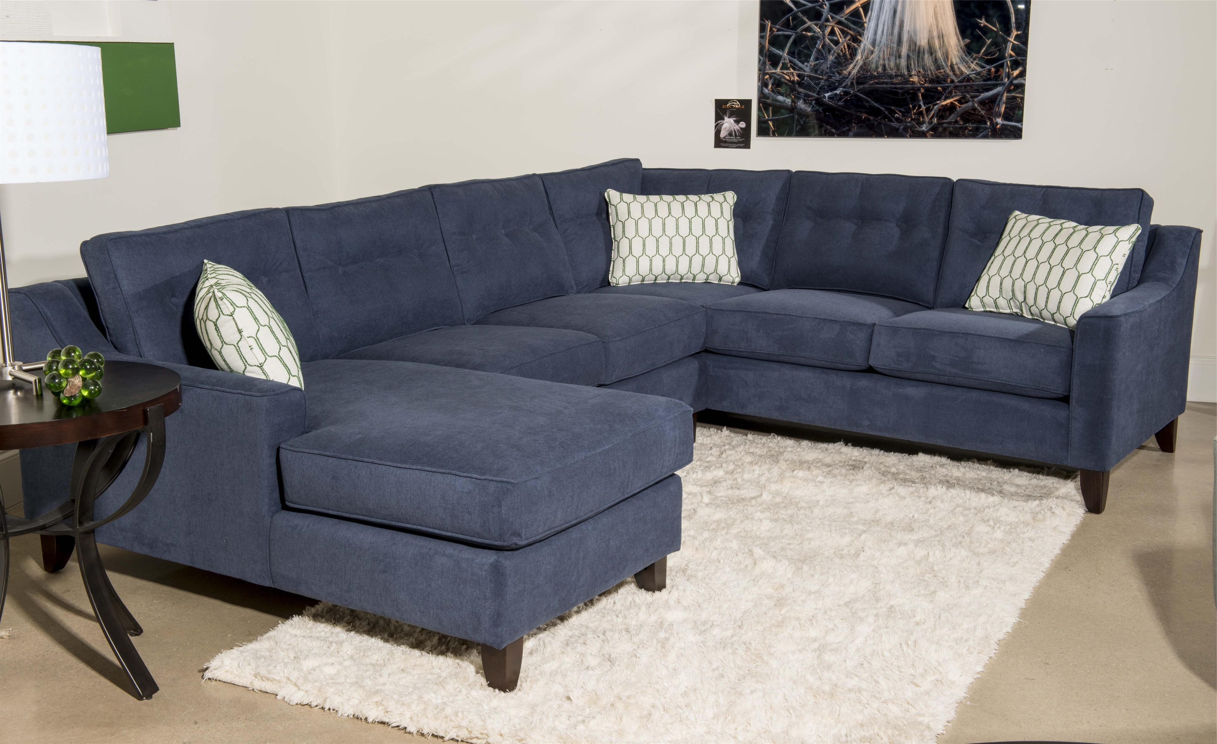 Klaussner Audrina Contemporary 3 Piece Sectional Sofa With Chaise regarding Famous 3 Piece Sectional Sleeper Sofas