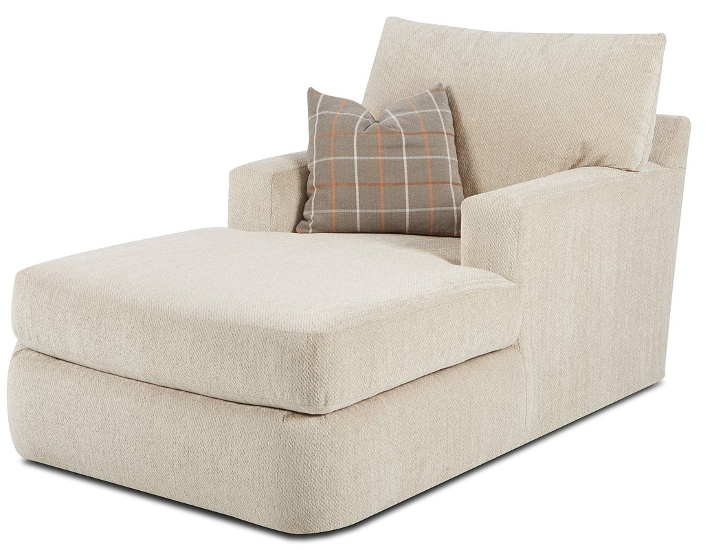 Klaussner Chaise Lounge Chairs Throughout Well Known Klaussner Furniture Simms Chaise Lounge & Reviews (View 10 of 15)