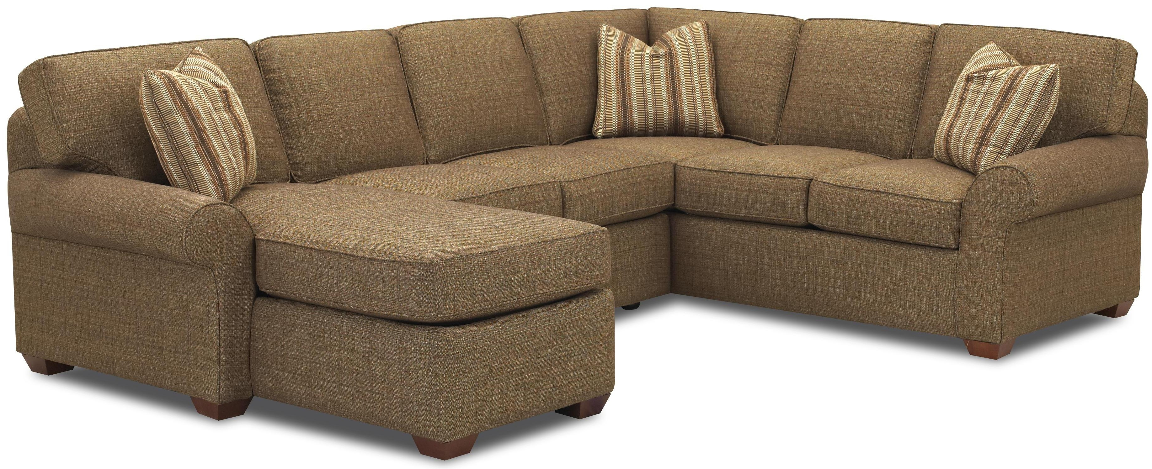 Klaussner Patterns Sectional Sofa Group With Right Chaise Lounge With Regard To Most Popular Loveseat Chaise Lounges (View 3 of 15)