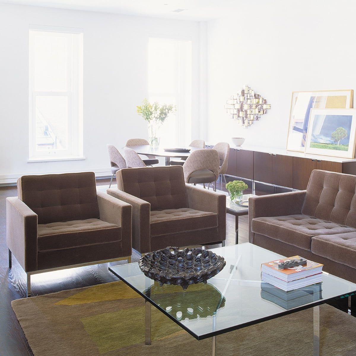 Knoll Florence 3 Seats Sofa In The Shop throughout Popular Florence Knoll Living Room Sofas