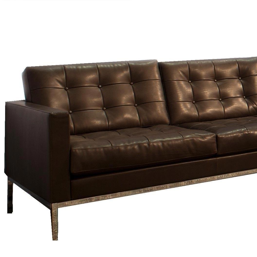Knoll International inside Popular Florence Leather Sofas