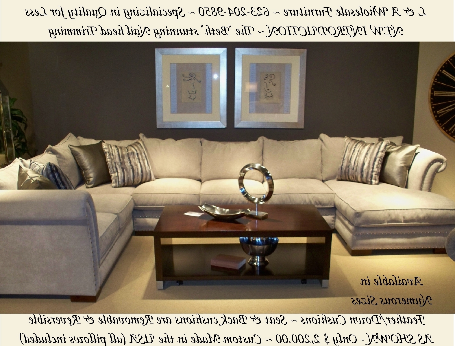L & A Wholesale Furniture Glendale Arizona Direct Web Link Http Regarding Most Recently Released Down Feather Sectional Sofas (View 10 of 15)