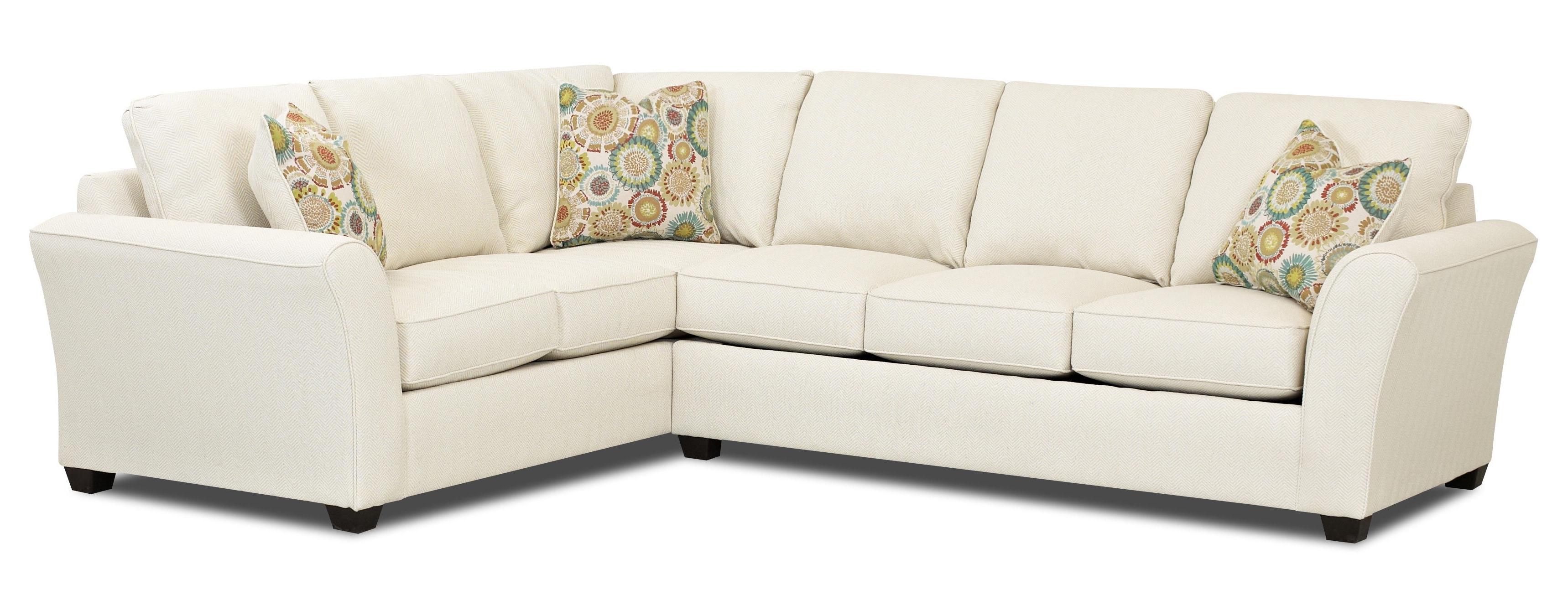 L Shaped Sectional Sleeper Sofas Regarding Current Transitional Sectional Sleeper Sofa With Dreamquest Mattress (View 10 of 15)