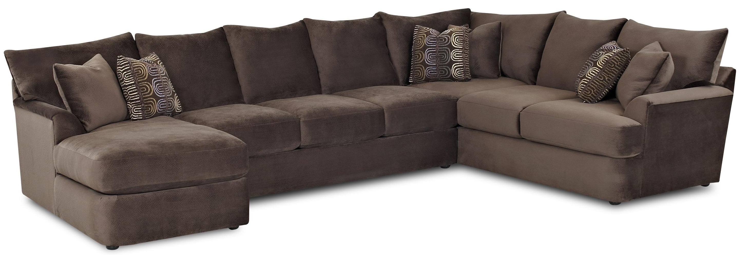 L Shaped Sectional Sofas pertaining to Most Recent Klaussner Findley L-Shaped Sectional Sofa With Right Chaise - Ahfa