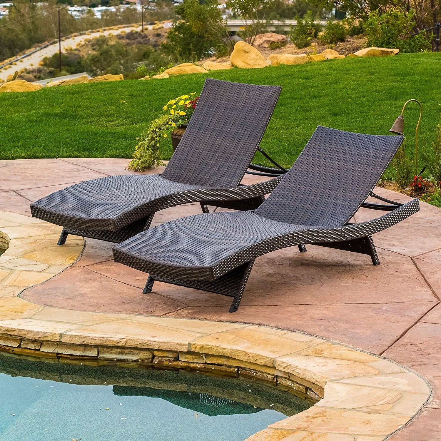 Lakeport Outdoor Adjustable Chaise Lounge Chairs For 2017 Amazon : Lakeport Outdoor Adjustable Chaise Lounge Chair (Set (View 7 of 15)