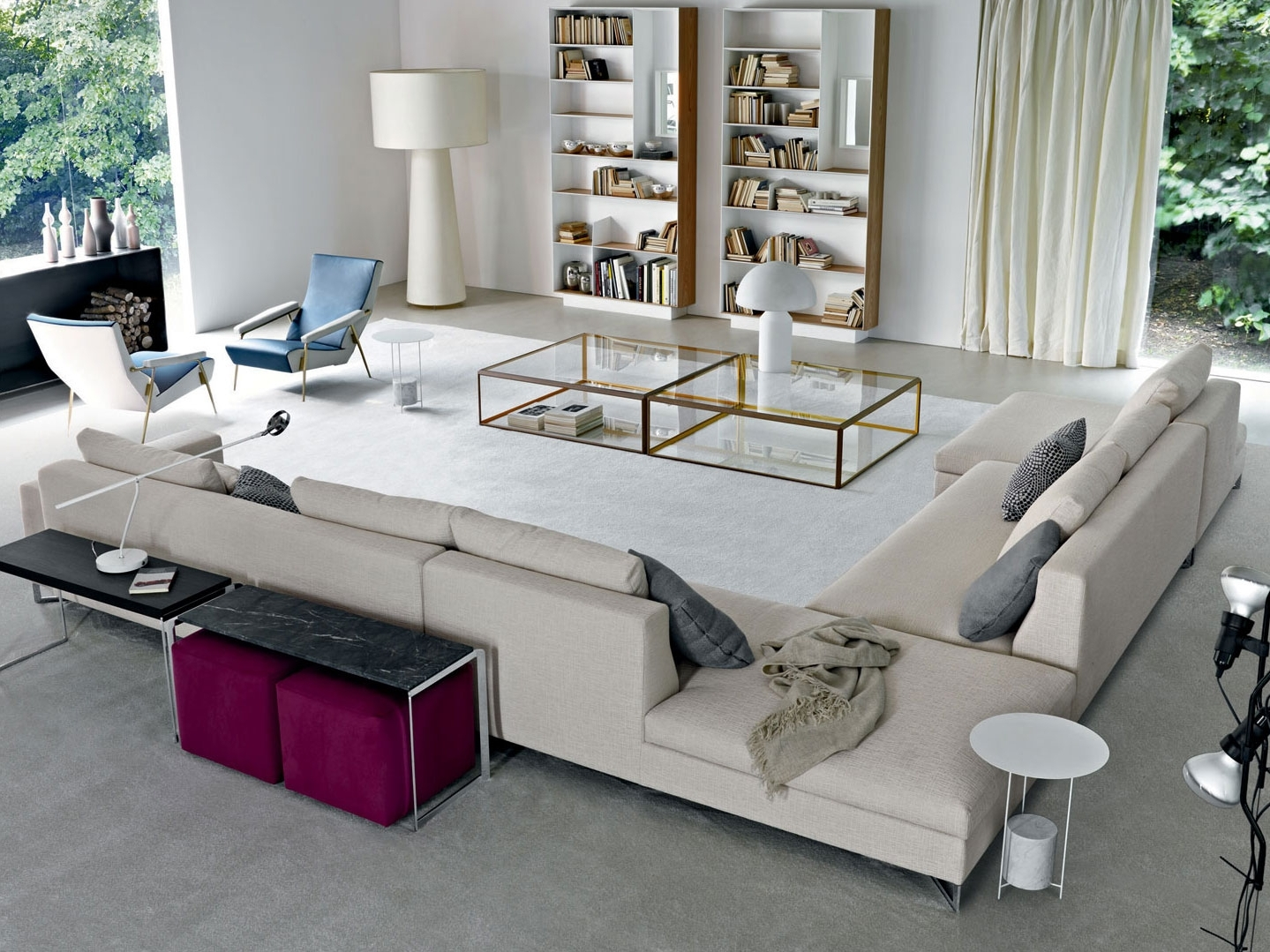 Large Sectional Sofas With Regard To Preferred Sofa : Sectional Sofa With Oversized Ottoman Oversized Microfiber (View 14 of 15)