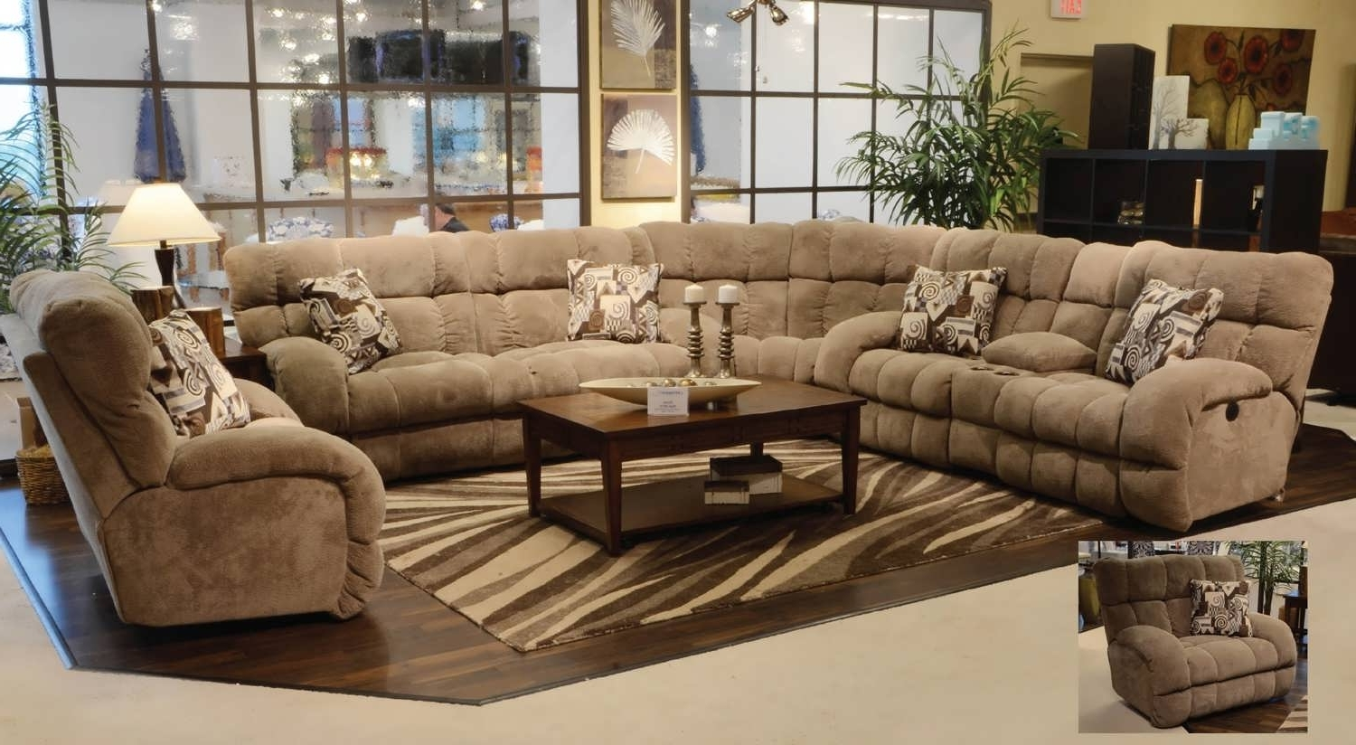 Large Sectionals With Chaise Regarding Newest Sofa : Small Chaise Sofa Sectional Sofas Large Sectional Black (View 4 of 15)