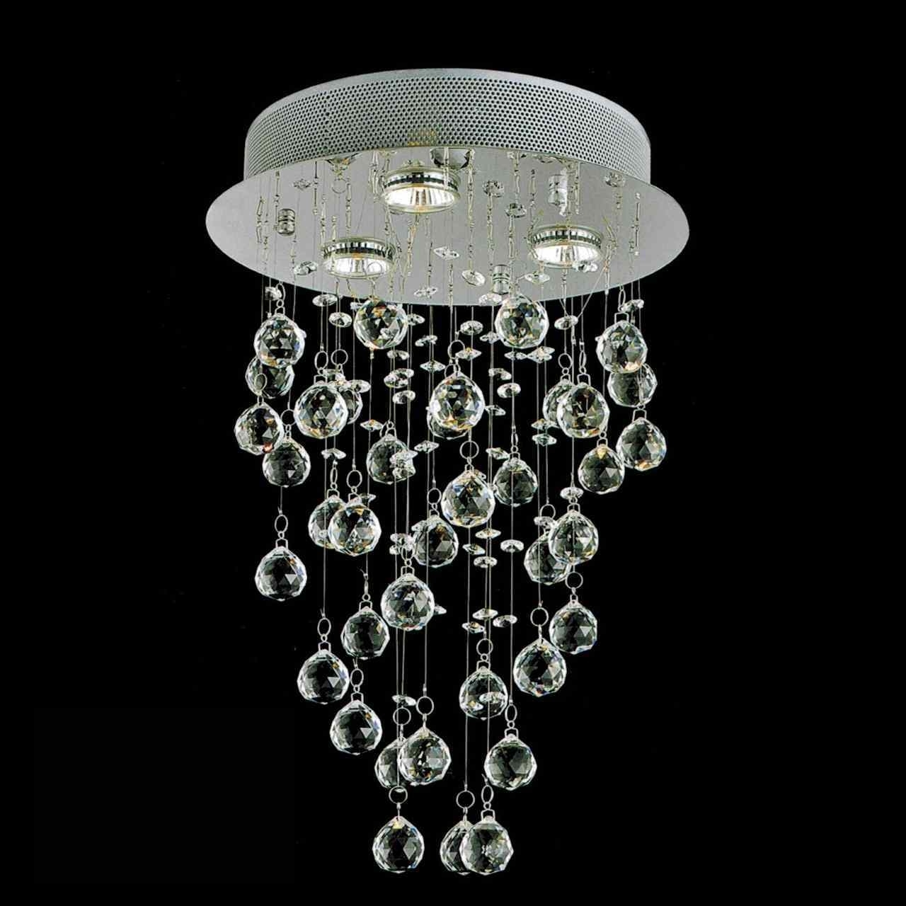 Latest 3 Light Crystal Chandeliers Regarding Brizzo Lighting Stores (View 15 of 15)