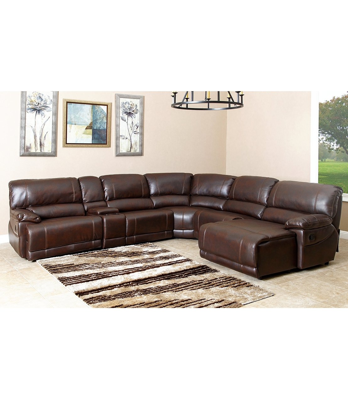 Latest Abbyson Sectional Sofas Pertaining To Sectionals : Cooper Leather Sectional (View 11 of 15)