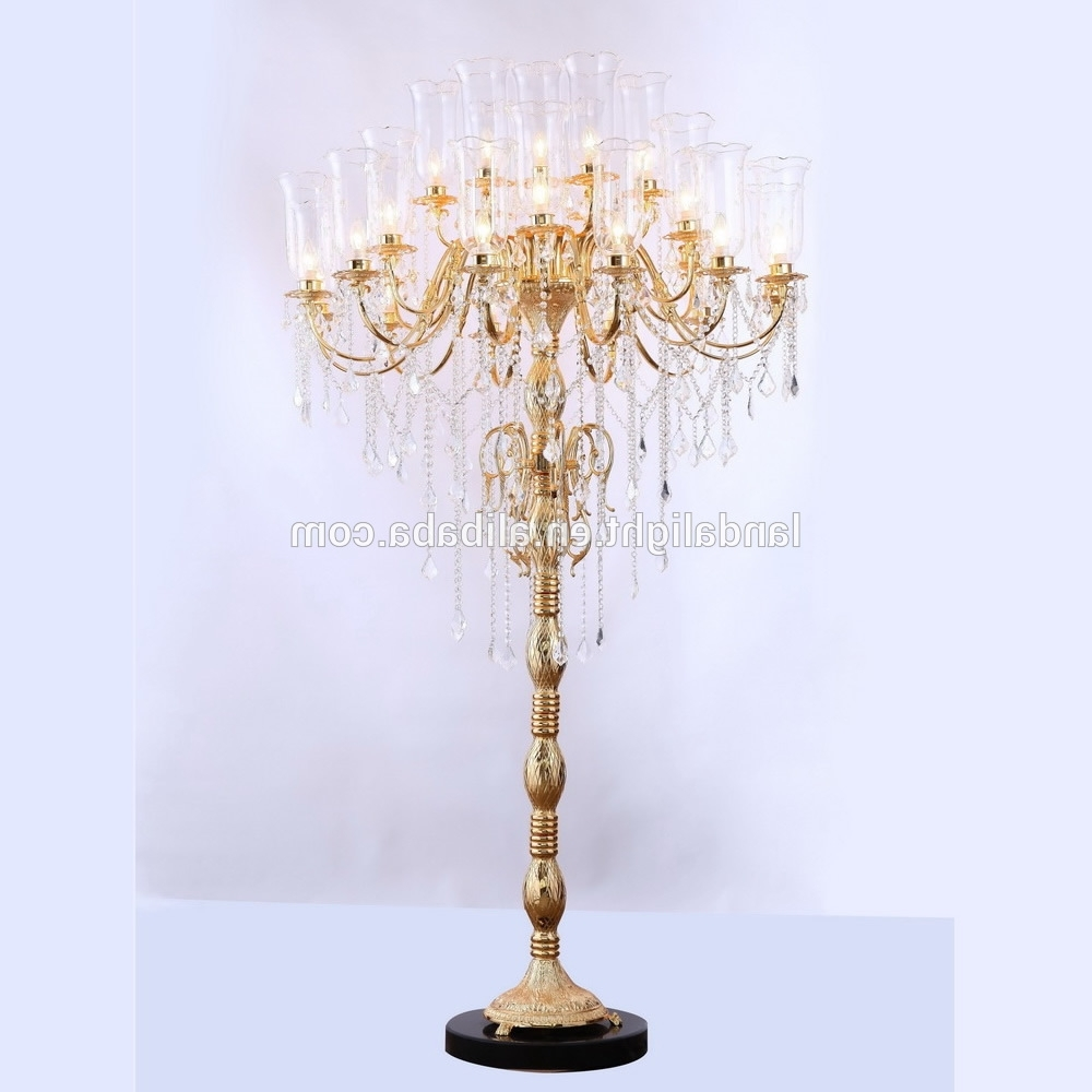 Latest Antique Crystal Chandelier Floor Lamps – Buy Crystal Chandelier Regarding Chandelier Standing Lamps (View 8 of 15)