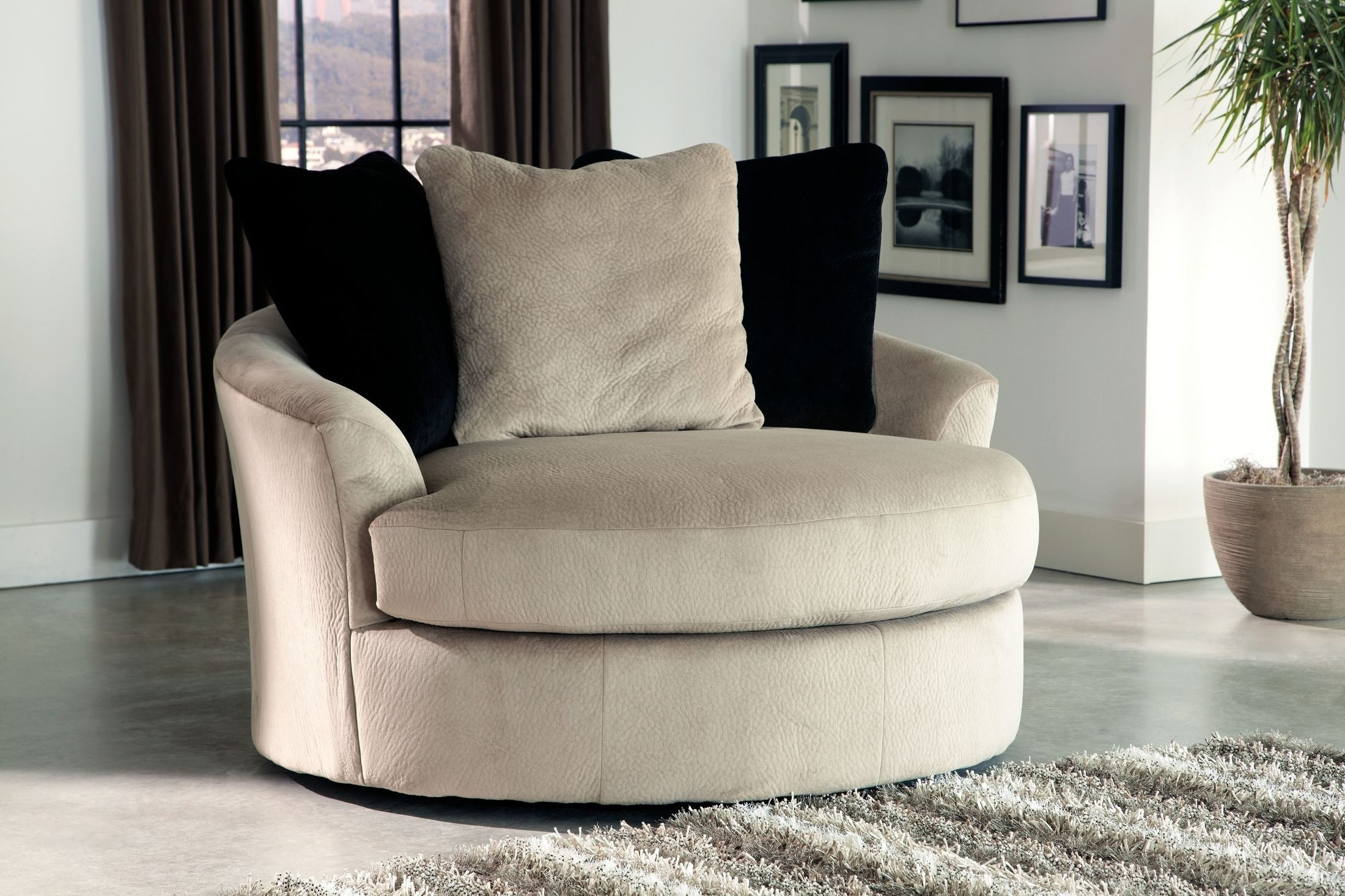 Latest Chair : Cheap Swivel Chairs Round Swivel Cuddle Chair Swivel Couch Throughout Round Swivel Sofa Chairs (View 8 of 15)