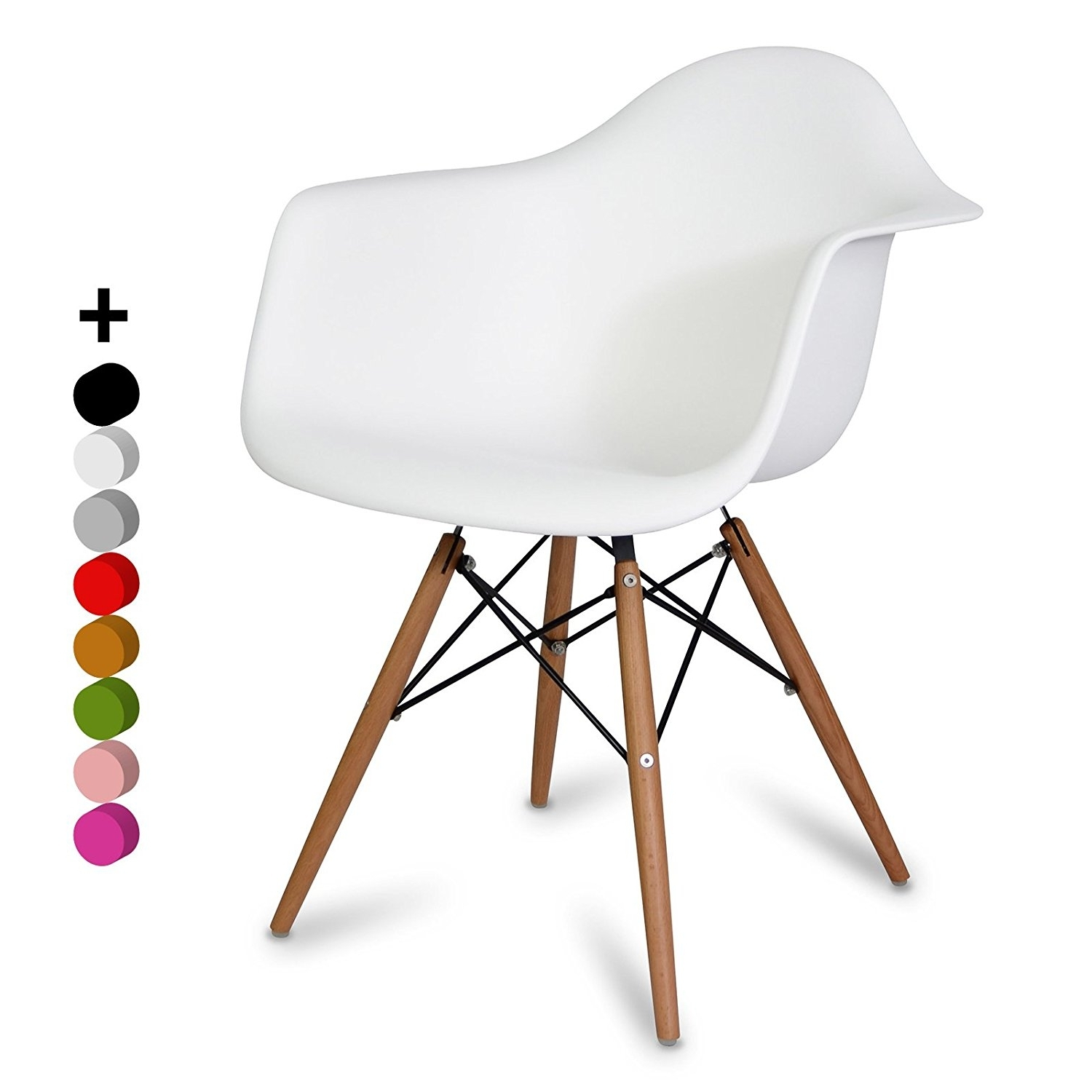 Latest Chaise Daw Style – Blanc – Inspiration Charles&ray Eames – 63 Cm X Throughout Eames La Chaises (View 8 of 15)