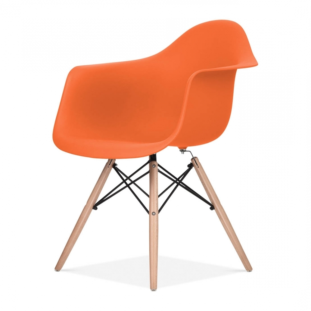 Latest Chaise Design & Moderne De Style Daw En Couleur Orange (View 8 of 15)