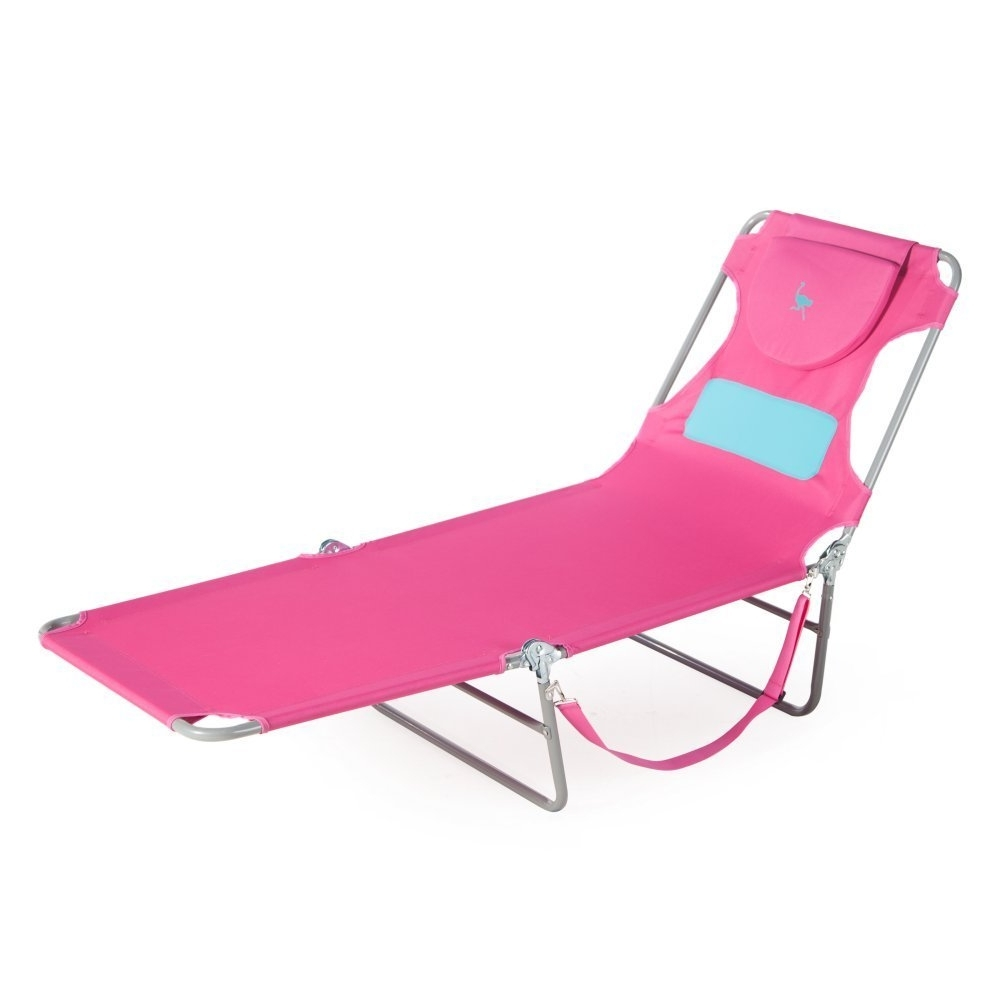 Latest Chaise Lounge Chairs With Face Hole Throughout Amazon : Ostrich Ladies Comfort Lounger, Pink : Garden & Outdoor (View 9 of 15)