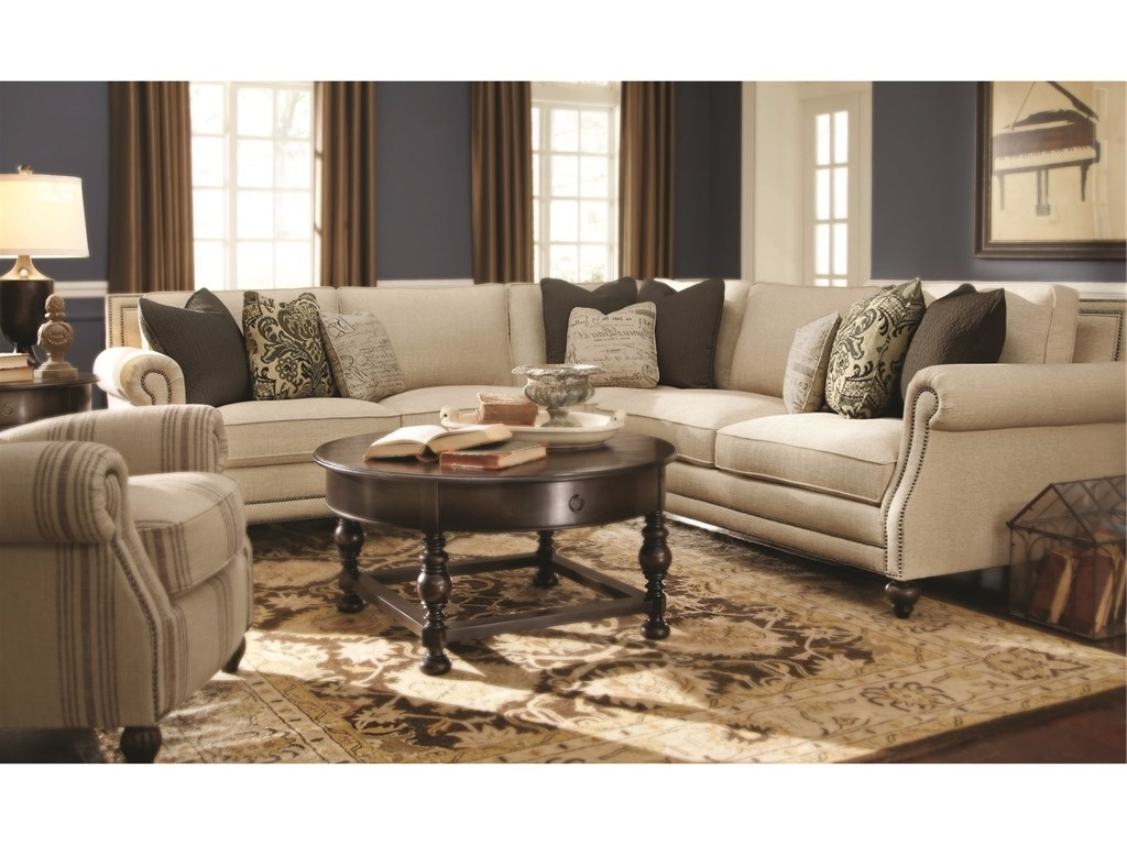 Latest Cincinnati Sectional Sofas Inside Bernhardt Living Room Brae Sectional 832270 – Furniture Fair (View 2 of 15)