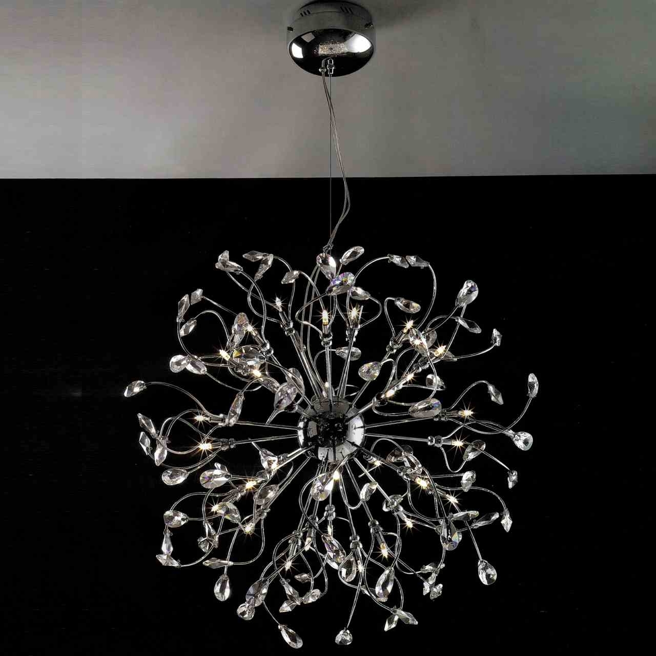 Latest Crystal And Chrome Chandeliers In Brizzo Lighting Stores (View 8 of 15)