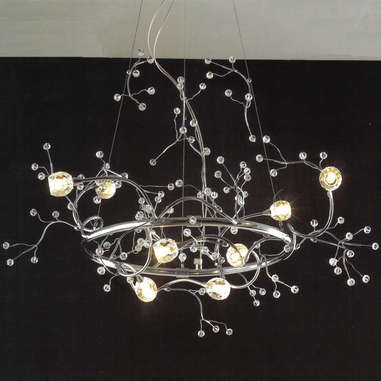 Latest Crystal Branch Chandelier Inside Brizzo Lighting Stores (View 10 of 15)