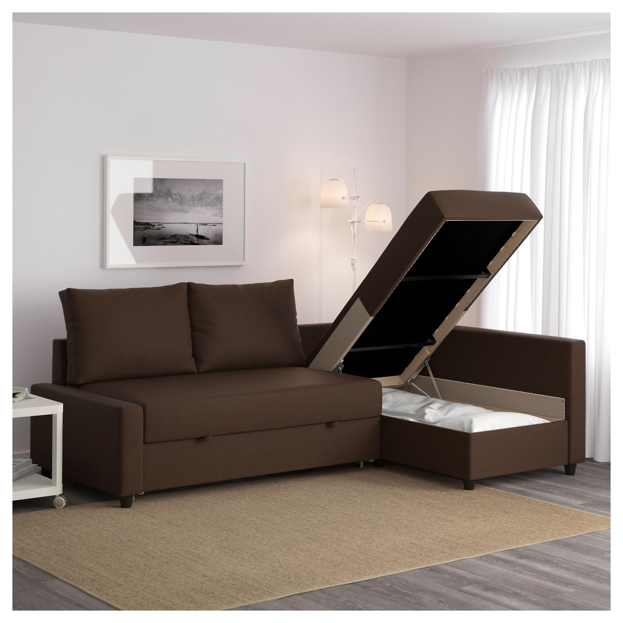 Latest Friheten Corner Sofa Bed With Storage Skiftebo Brown – Ikea Pertaining To Ikea Corner Sofas With Storage (View 9 of 15)