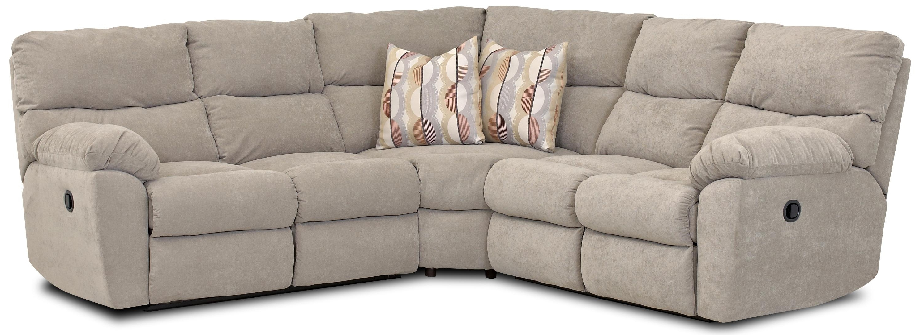 Latest Johnny Janosik Sectional Sofas In Klaussner Odessa Casual Power Reclining Sectional With Accent (View 3 of 15)