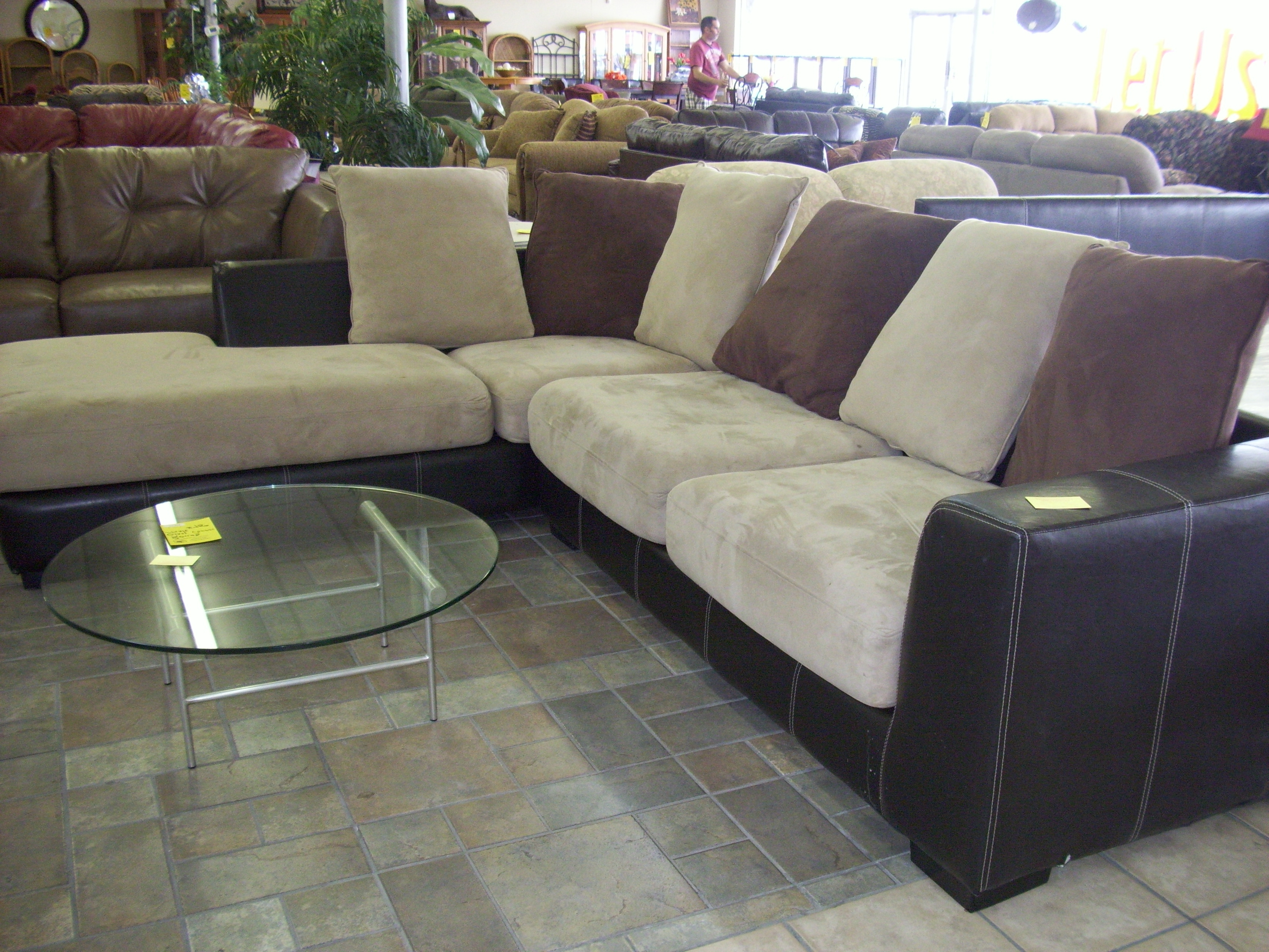 Latest Leather And Suede Sectional Couches • Leather Sofa Regarding Leather And Suede Sectional Sofas (View 3 of 15)