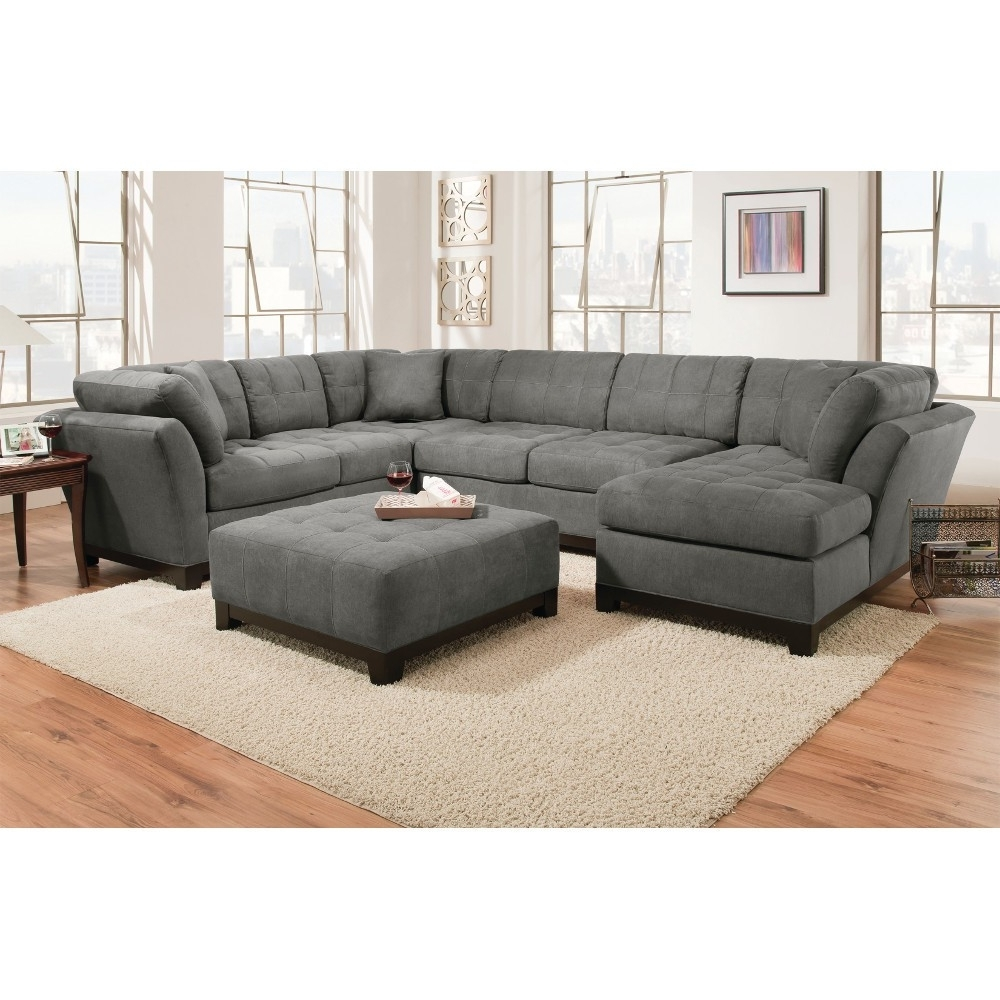 Latest Loveseats With Chaise In Manhattan Sectional – Sofa, Loveseat & Lsf Chaise – Slate (View 7 of 15)