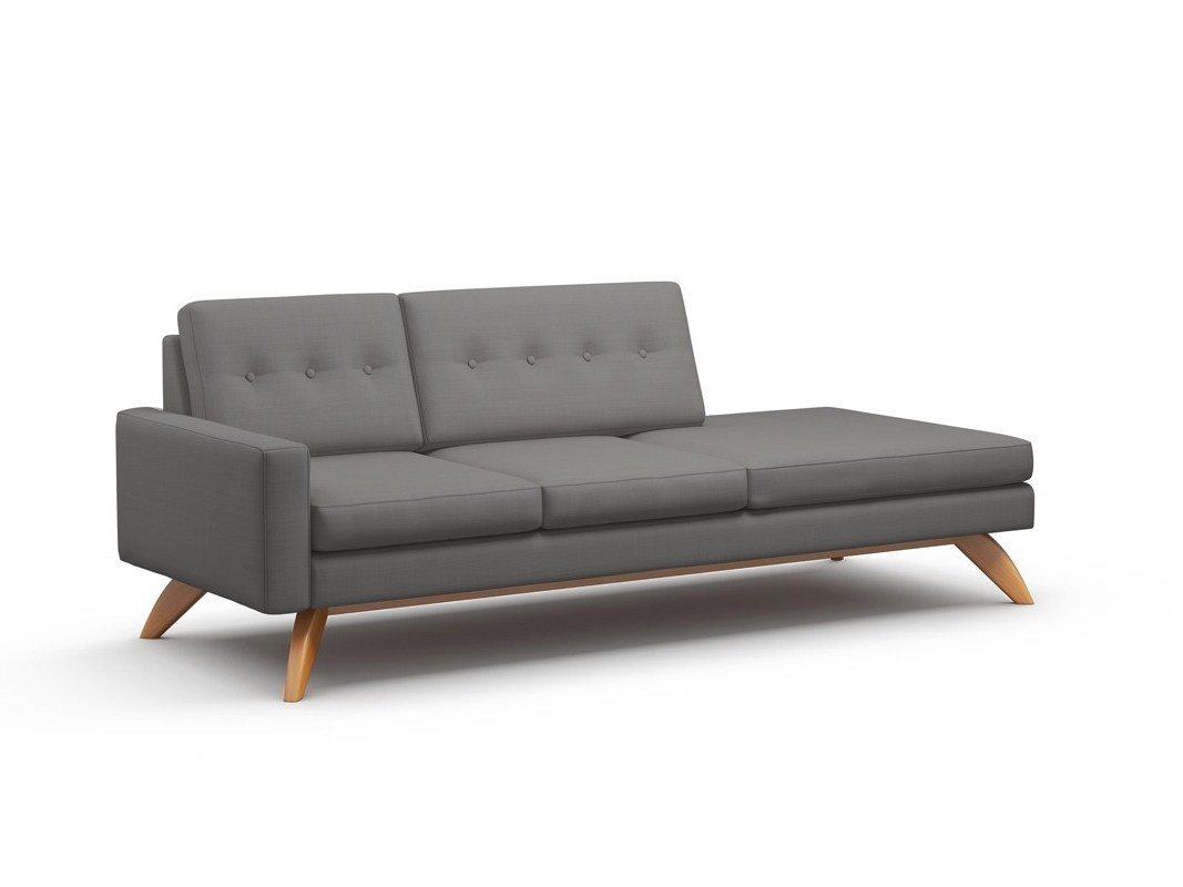 "Latest Luna 94"" One Arm Sofa With Chaise – Truemodern™ With Regard To One Arm Chaises (View 1 of 15)"