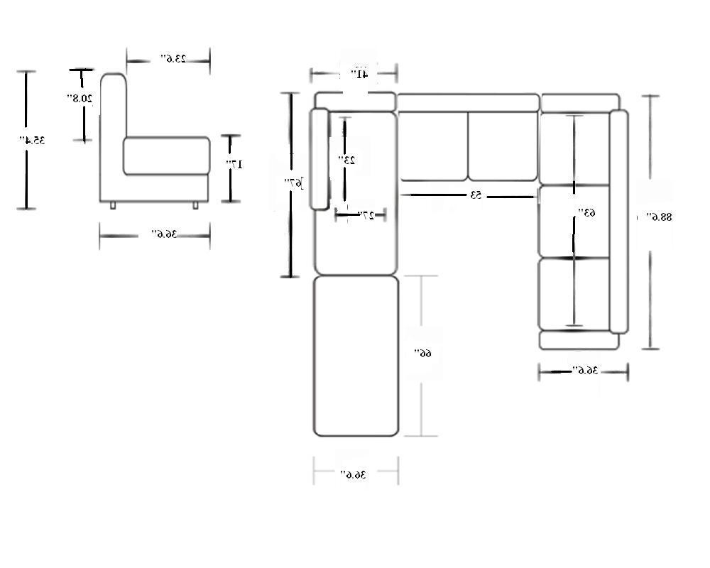 Latest Measurements Sectional Sofas For Small Sectional Sofa Dimensions – Video And Photos (View 13 of 15)