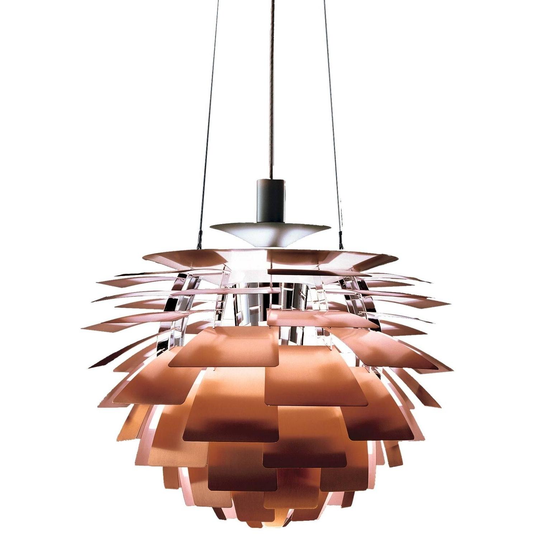 Latest Monumental Poul Henningsen Copper Ph Artichoke Chandelier For Louis within Copper Chandeliers