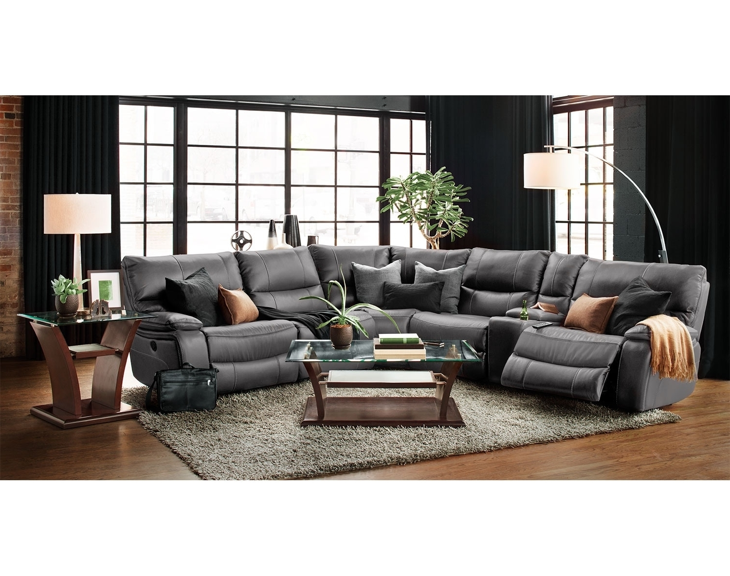 Latest Orlando Sectional Sofas Intended For The Orlando Collection – Gray (View 6 of 15)