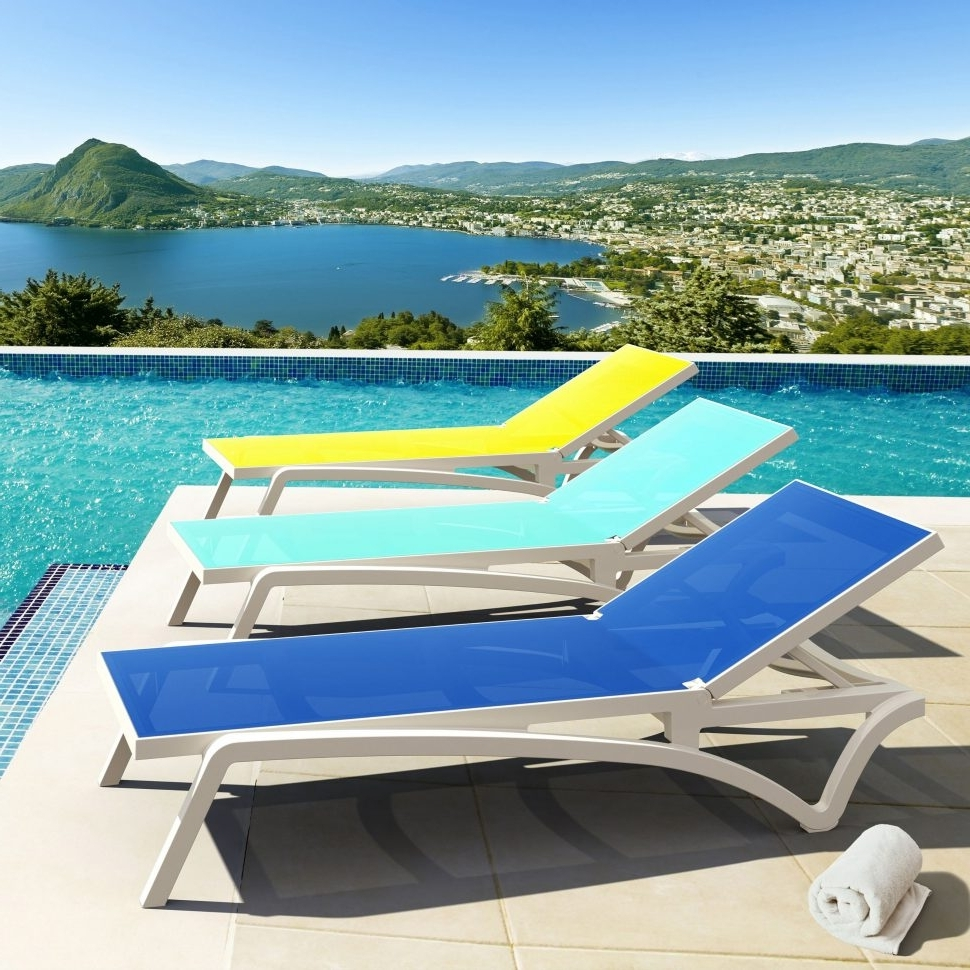 Latest Pool Chaise Lounge Chairs With Regard To Lakeport Outdoor Adjustable Chaise Lounge Chairs (View 12 of 15)