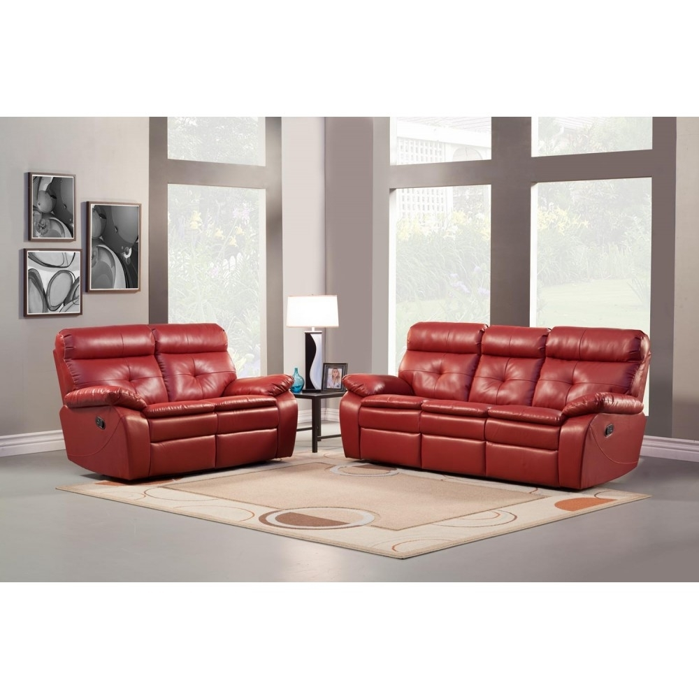 Latest Red Leather Reclining Sofas And Loveseats Regarding $1, (View 6 of 15)
