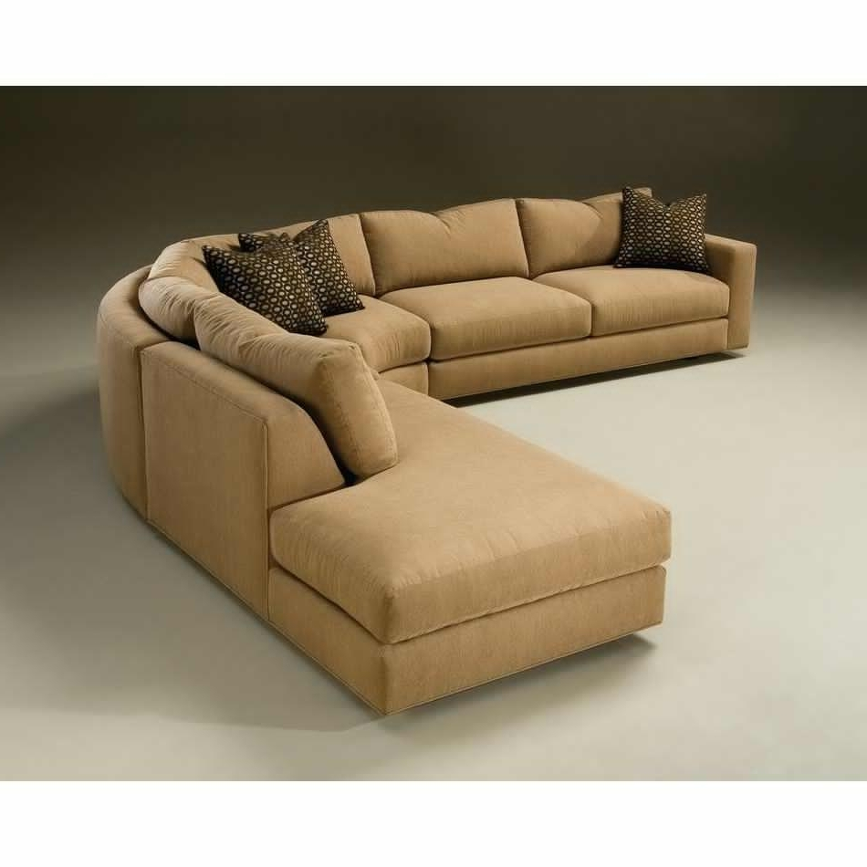 Latest Round Sectional Sofas With Regard To Sectional Sofa Design: Curved Sectional Sofas Sale Small Spaces (View 13 of 15)