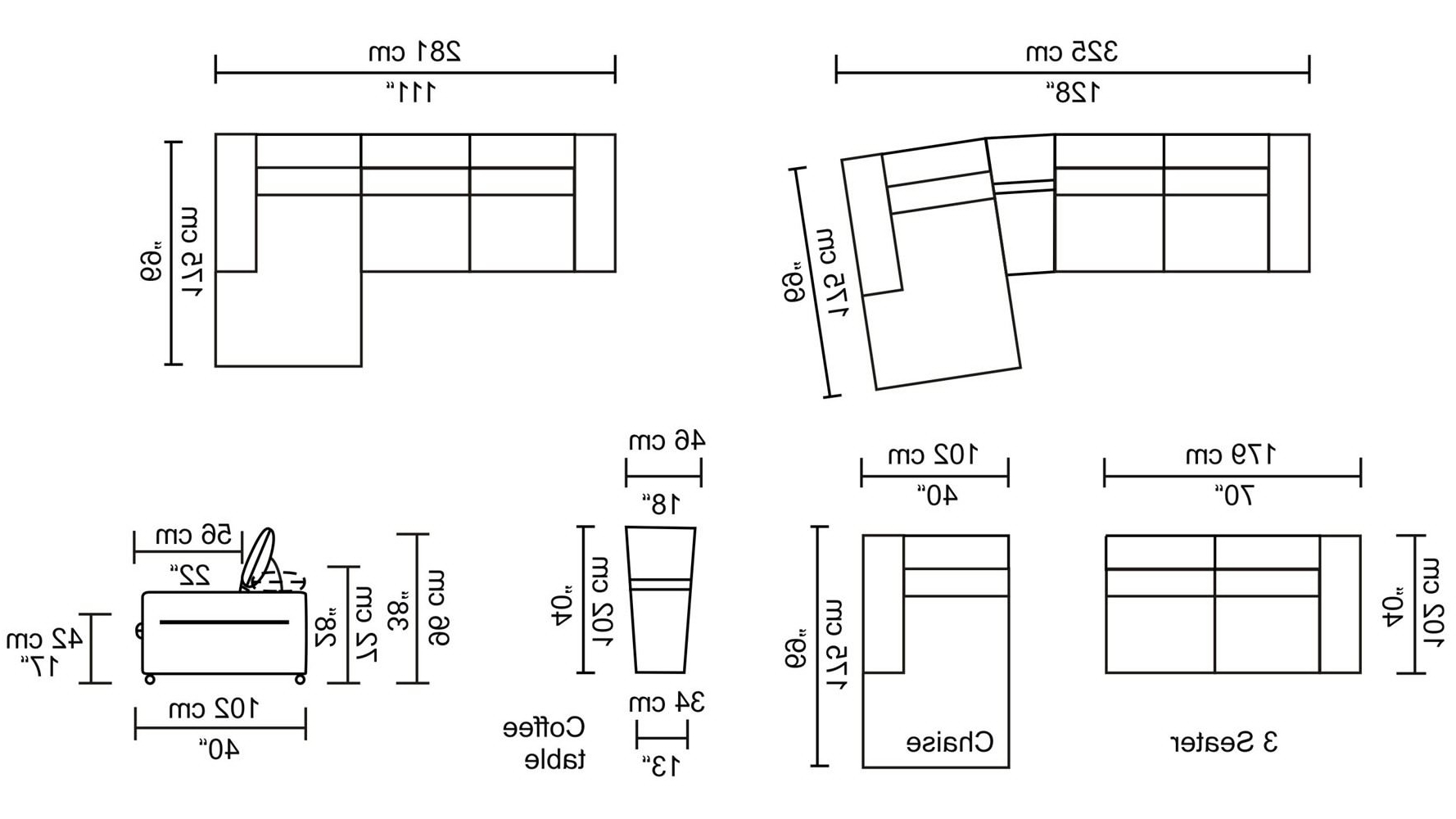 Latest Sectional Sofas By Size Pertaining To Fresh Sectional Sofa Dimensions Standard 52 For Sectional Sofas (View 3 of 15)