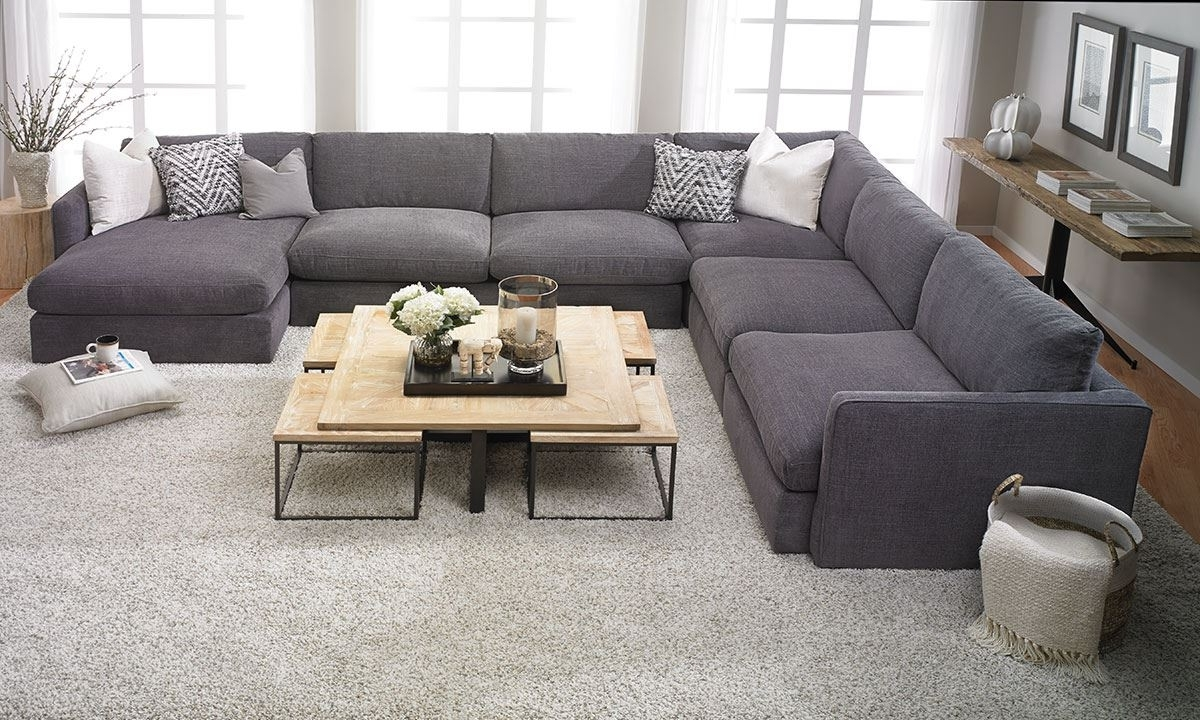 Latest Sectional Sofas In Houston Tx In Lincoln Park Handmade Modular Sectional (View 4 of 15)