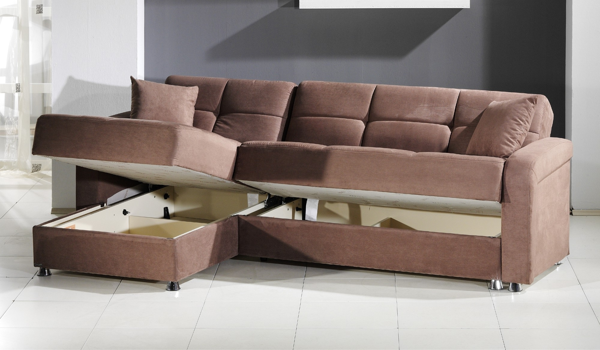 Latest Sectional Sofas With Storage For Leather Armchair And Ottoman Chaise Sofa With Storage Ottoman (View 4 of 15)